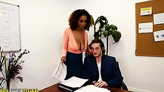 Raven Redmond cannot resist seducing her boss for a shag