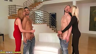 Gorgeous blondes getting fucked
