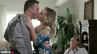 Kinky boss invites handsome employee to fuck naughty wife Kate Kennedy