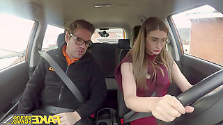 Faux Driving college super-sexy Russian teacher creampied