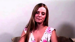 Youthful Nordic lady Denice audition