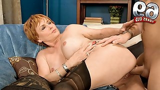 Taking It In, Then Pushing It Out - Valerie And John Strange - 60PlusMilfs