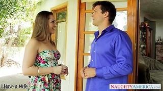 Too hot nextdoor milf Dani Daniels flirts with an increment of wants to be nailed hard