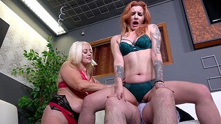 Catherine Boss gets talked into parceling out a cock with another spoil