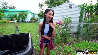Fucking in be transferred to back of be transferred to substitute for hither sexy ebony Alexis Avery