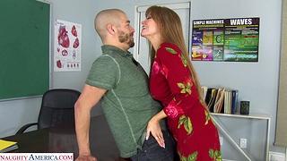 Hardcore fucking projected respecting fake boobs MILF Darla Crane