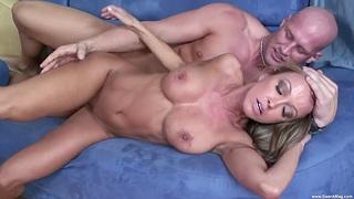 Hardcore fucking above the sofa with fake boobs MILF Kristina Spoiled