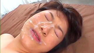 Asian ends with facial her first time cam shag