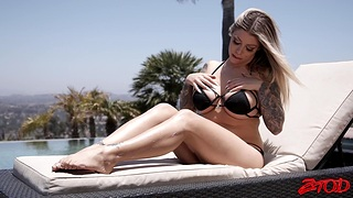Tattooed awarding wife Karma RX moans during hardcore threesome