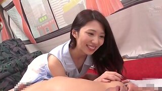 Japanese babe moans while will not hear of puss is being licked - Yamagishi Aika