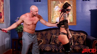 Kinky wife Brandy Aniston uncultured directed up and spanked during coition